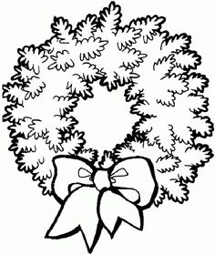 Christmas wreath Christmas coloring pages