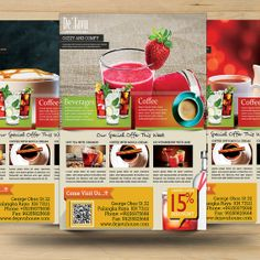 Coffee Shop and Beverages Promotion Flyer by FionaCreatiiv on Etsy, $4.00