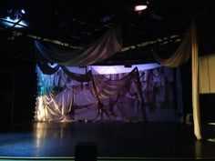 "Luscombe Collaboration ""Beyond the Armor"" WMU  Lighting Designer: Evan Carlson Scenic Design: Caitlin Eby"