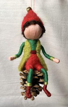 Gefilzte Figur, Nadelfilzen,Wolle, Weihnachtswichtel, Weihnachten