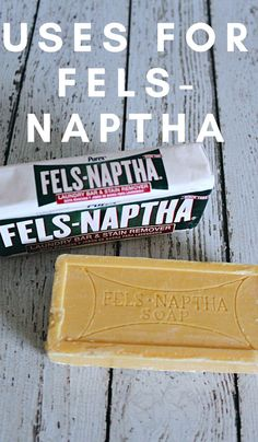 This little bar of soap will change your life. It's so inexpensive, but you can use it for so many things. Check out these uses forFels Napthathat are life-changing. #frugalliving #upcycle #thefrugalnavywife #felsnaptha | Uses for | Fugal Living | Fels Naptha