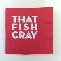 Crawfish Boil Party Napkins by freshinkstyle on Etsy