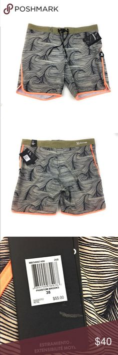"""New Mens Hurley Phantom 18"""" Boardshorts Khaki 38 Item is new with tags 100% Authentic Product  Fast Shipping  Buy with confidence  Size 38 Hurley Shorts Athletic"""