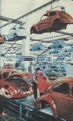 Chaine de montage de la Volkswagen en Allemagne, 1959 #histoire