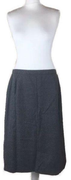 e6ed7059a0e2 Eastex Womens Grey Wool Skirt Size 14 CJ15 #fashion #clothing #shoes  #accessories