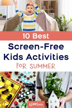 Remember those days when you rode your bike, read a book, enjoyed a craft , or started a puzzle? If you're wanting to limit your kids' screen time, there are a ton of non-electronic activities that would keep them busy. We share 10 screen-free activities here, perfect for summer and all year-round! | #lifeasmama #screenfree #screenfreeactivities #kids #kidsactivities #momlife #summer 18 Month Old Activities, Free Activities For Kids, Time Activities, Infant Activities, Summer Crafts For Kids, Summer Kids, Kids Crafts, Screen Time For Kids, Summer Science