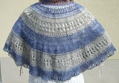 Shawl in Hairpin Lace