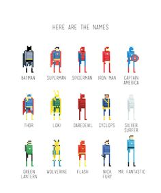 Pixel Art of Superheroes and Supervillains /