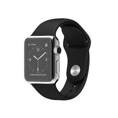 Apple Watch 42mm Stainless Steel Case - Black Sports Band MJ3U2LL/A via https://www.bittopper.com/item/apple-watch-42mm-stainless-steel-case-black-sports-band/