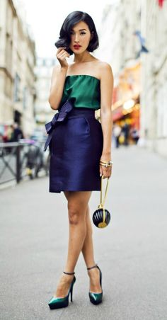 nice 5 color block outfits for Christmas parties
