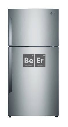 20% OFF CLEARANCE GREY Medium Periodic Table Beer Decal for Fridge or Refrigerator, Wall, Office, Dorm or Kitchen via Etsy