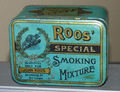 Rare circa 1910 Ottawa Ontario ROOS' SPECIAL tobacco tin can FREE SHIPPING
