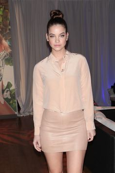 Beauty Barbara Palvin celebrates her feature in Sports Illustrated's Swimsuit 2016 Issue wearing EF Collection Diamond Huggies and Triple Spiral Ring.