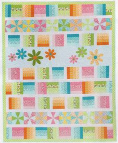 Sew in Love {with Fabric}: Feels like Spring: Pinwheels & Rails