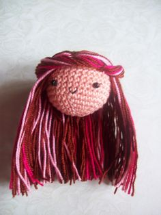 Abby's Amigurumi ♥ // Free Amigurumi Doll Hair Tutorial. a simple...crochet doll hair