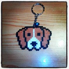 Dog keychain hama beads by mel_pixelart