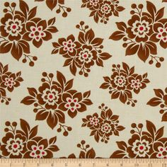 Designed by Mary Jane for Moda, this cotton print fabric is perfect for quilting, apparel and home decor accents. Colors include brown, cream and red.