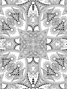 Abstract Doodle Zentangle Paisley Coloring Pages Colouring Adult Detailed Advanc