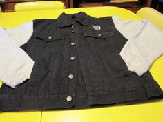 NFL Oakland Raiders Vintage Black Denim Jacket