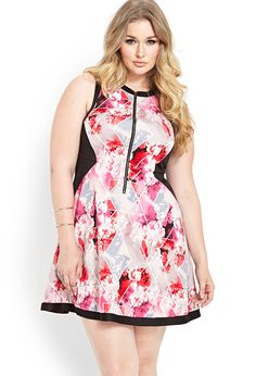 Floral Scuba Knit Dress | FOREVER21 PLUS All dressed up #Spring #F21Plus