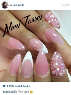 Inspiration for next set ? Love all of looks 🙀✨🙌 My nails are currently almond shaped points. What's your face nail shape? Sexy Nails, Fancy Nails, Love Nails, Pink Nails, How To Do Nails, Stiletto Nails, Glam Nails, Fabulous Nails, Gorgeous Nails