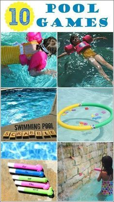 Pool Games for Kids - Looking for ways to beat the heat this summer? Try these fun pool games and have fun with the whole family. Also, learn about how kids can be water safe using the Stearns Puddle Jumper. Swimming Pool Games, Pool Party Games, Kid Pool, Pool Fun, Pool Games Kids, Kids Swimming, Beach Pool, Fun Games, Pool Activities