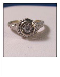 Antique Art Deco 14k Transitional Cut Diamond by BellaJewelryShop, $285.00