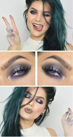 Makeup looks purple linda hallberg Ideas Gorgeous Makeup, Love Makeup, Makeup Inspo, Makeup Tips, Hair Makeup, Makeup Ideas, Makeup Geek, Beauty Make-up, Beauty And Fashion