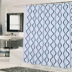 Geneva Shower Curtain Blue Brown