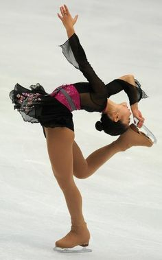 Black Figure Skating / Ice Skating dress inspiration for Sk8 Gr8 Designs.