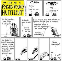 My Life As A Background Hufflepuff, by Emily McGovern Harry Potter Comics, Fanart Harry Potter, Harry Potter Jokes, Harry Potter Fandom, Harry Potter World, Sirius Black, Fandoms, Hogwarts, Background Slytherin