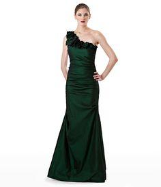 JS Collections Petal-Detail One-Shoulder Gown