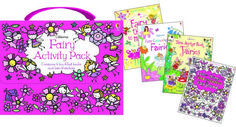 Fairy Activity Pack - now this makes a great gift! Comes with four activity books and an adorable carrying case!