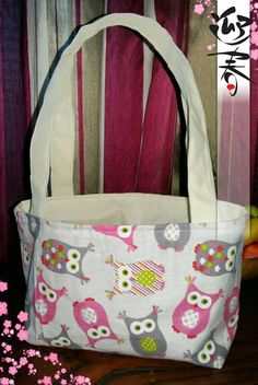 Mini owl tote bag Ideal for. school books Children Lunch bag And many more things. Diaper Bag, My Etsy Shop, Lunch, Trending Outfits, Unique Jewelry, Handmade Gifts, Check, Bags, Shopping