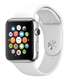 """""""9.9.2014 Wish we could say more."""" New ••Apple WATCH!!"""" • irony (VOGUE article): SmartPhone made watch obsolete in 2007 but now recolonizes wrist ; ) • requires iPhone (6+/6/5S/5C/5) • starts @$349 in early 2015 • 3 Collections: Watch / Sport / Edition • Activity + Workout Apple apps • WatchKit! • Messages • finger-sketches • SIRI Maps! • ultimate customization • apps • new light/photosensors • 3rd party tech ext • no screen obstruction • finest materials..."""