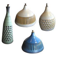 1stdibs | Four Mid-Century Ceramic Pendant Lights