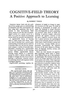Page 501 of Cognitive-Field Theory: A Positive Approach to Learning