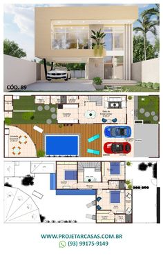 Casas The Sims Freeplay, Floor Plans, Layout, House Ideas, 2 Storey House, House Plans With Pool, House Plans With Porches, Villa Plan, Apartment Floor Plans