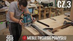 cz 3 Stół z szerokich fosztów dębowych - montaż nóg drewnianych i frezow... Wooden Leg, Milling