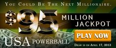 USA Powerball Rollover: USD 95M Jackpot on April 20