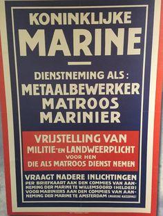 Marine, Vintage Posters, Dutch, Navy, Poster Vintage, Hale Navy, Dutch Language, Old Navy, Navy Blue