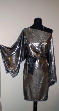 Silver evening dress party / formal dress wedding dress by FedRaDD, $160.00