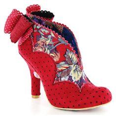 Irregular Choice Toasted Teacake 3781-47A Womens High Heel Court Shoes - Red