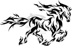16 Tribal Animal Tattoo Designs, Pictures And Photos Tribal Tattoo Designs, Tribal Horse Tattoo, Tribal Drawings, Horse Tattoo Design, Cool Tribal Tattoos, Cool Tattoos, Tribal Art, Horse Tattoos, Tribal Animal Tattoos