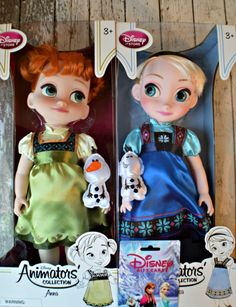 My Favorite Things Holiday Giveaway - Enter to win Disney Animator's Collection Elsa & Anna Dolls and a Disney Gift Card