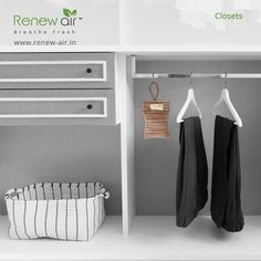 RenewAir Purifier Bag covers areas up to 50 square feet. Excellent for small spaces such as cars, closets, bathrooms, small office cabin, pet areas children area laundry rooms. Portable Air Purifier, Pet Safe, Small Office, Wardrobe Rack, Small Spaces, Eco Friendly, Laundry Rooms, Square Feet, Closets