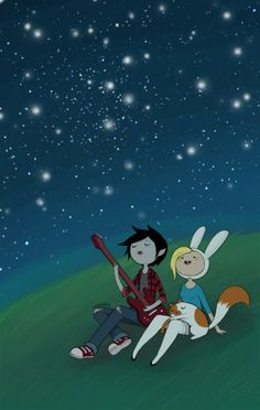 There's so many stars in the sky, but I'm only focusing on Marshall Lee