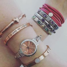 The layered look is still as popular as ever especially for the wonderful summer we are getting! Wear it your way and mix it up! Check out the brilliant promo for my Bonbons leather bracelet in Argento stores!! #loveargento #argentojewellery #nomination #nominationitaly #mybonbons #trendsetter #pariswatches #paris #rosegold #augustwoods #extensionbracelet #peach #watch #gold #amethyst #emerald #pink #pontevecchio #heart #handmade #madeinitaly #florence #stackingbracelets
