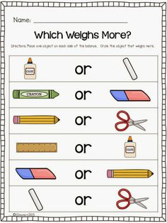 Keeping Up With The Kindergarteners Let's Talk About Weight and a FREEBIE!
