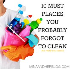 Spring clean your home with these 10 must Places you probably forgot to clean but really should!